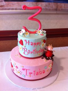 Peppa Pig Child's Birthday Cake