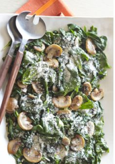Sautéed Spinach with Mushrooms – With the rich flavors of garlic and Parmesan, our Sautéed Spinach with Mushrooms will win over even the non-veggie lovers in the house.