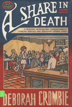 A Share in Death by Deborah Crombie - A week's holiday in a luxurious Yorkshire time-share is just what Scotland Yard's Superintendent Duncan Kincaid needs. But the discovery of a body floating in the whirlpool bath ends Kincaid's vacation before it's begun. (Bilbary Town Library: Good for Readers, Good for Libraries)