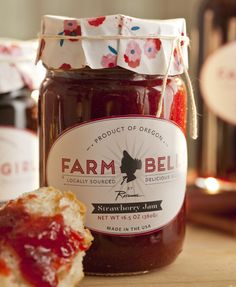 Rosanna Farm Belle. This is Rosanna's debut into the food world and we love it. The new line supports the local economies of the Pacific Northwest while introducing the world to the sustainably sourced, natural ingredients of the region. Syrups, hazelnuts, raw-infused honey cream and jams are all part of this must-have product line.