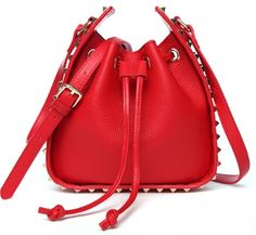 6fea6419306 Real Leather Women s Hand Bag Red Fashion