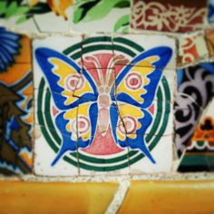This butterfly is one of my favorite ceramics in Park Guell. See it during our Gaudi tours! https://www.foreverbarcelona.com/tours/private-gaudi-tour/