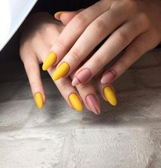 Cute and Pretty Nail Art Designs for Summer - Page 14 of 20 - Fashion Hair And Nails, My Nails, Nail Art Designs, Matte Nail Art, Acrylic Nails, Almond Nails Designs, Pretty Nail Art, Dream Nails, Yellow Nails