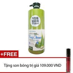 Mua Sữa tắm ORGANIA White Good Nature Aloe Vera Body Cleanser 1500ml + Tặng 1 son bóng 3W clinic Crystal Shining Lip Gloss 3D chính hãng, giá tốt...