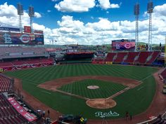 Looks like a beautiful day for Reds baseball. Go Redlegs! Reds Baseball, Baseball Field, Cincinnati Reds, Beautiful Day, Places, Instagram Posts, Summer, Summer Time, Lugares