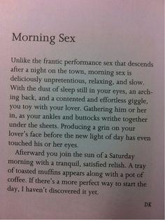 #sex #morning #health
