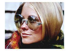 Glamour - November 1969 - Cybill Shepherd Modeling Delacroix Ski Sunglasses-by William Connors