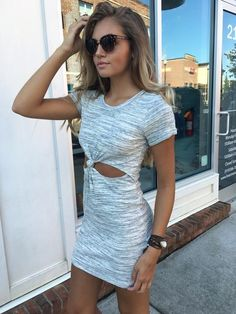 LA Girl Knotted T Shirt Dress