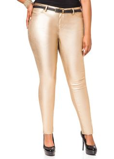 Denim is dazzling with these sexy metallic skinny jeans!