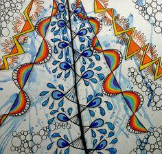 "#Zentangle inspired ""Rain"" - an official Zentangle tangle"