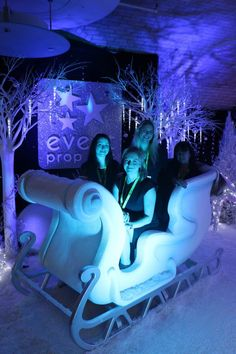 High quality Santa's Sleigh Prop (White) available to hire. View Santa's Sleigh Prop (White) details, dimensions and images. Winter Wonderland Theme, Stage Props, Church Stage Design, Prop Hire, Santa Sleigh, Fun Cup, 16th Birthday, Narnia, Staging