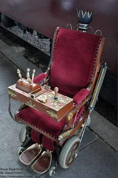 Steampunk wheelchair.