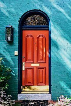 Lancaster, Pennsylvania Cool Doors, Unique Doors, Stairs Window, Doorway, Gates, Windows And Doors, Red Doors, Lancaster Pennsylvania, When One Door Closes