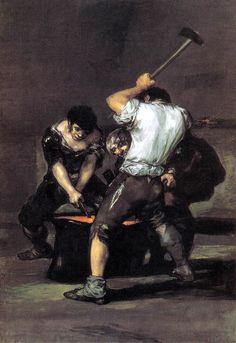 Francisco Goya, the forge on ArtStack #francisco-goya #art
