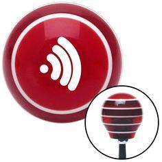 White Wireless Red Stripe Shift Knob with M16 x 15 Insert