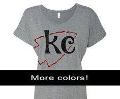 You will love this soft, slouchy KC Chiefs Shirt! Support your Kansas City Chiefs with this adorable glitter KC arrowhead design for some bling at the stadium.  #kcchiefs #kansascitychiefs #chiefsshirts