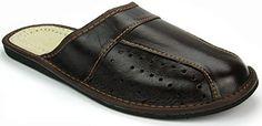Herren Hausschuhe Leder Pantoffeln M02 (46) - http://on-line-kaufen.de/janex/46-eu-herren-hausschuhe-leder-pantoffeln-braun