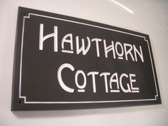 High-quality house signs available in a wide range of Stone and Styles. Stones include Slate, Sandstone, Yorkshire Stone and Marble. Cottage Names, Cottage Signs, Personalized Signs For Home, House Front Door, Front Doors, Slate Signs, House Names, Rustic Stone, Cottages By The Sea