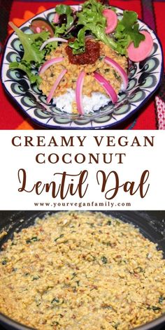 Lentil Dal is a rich comfort food found in nearly every Indian kitchen at dinner time. This simple Indian Dal is easy to make, high in protein, mildly spiced, and particularly creamy and rich because of the coconut milk. Hopefully, you enjoy this recipe Vegan Dahl Recipe, Lentil Dal Recipe, Lentil Recipes, Vegetable Recipes, Beef Recipes, Vegan Indian Recipes, Vegan Dinner Recipes, Delicious Vegan Recipes, Vegan Dinners