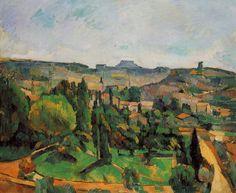 """""""Île-de-France Landscape,"""" 1880, Paul Cézanne."""