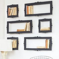 Brilliant! #Bookshelves that double as a #gallerywall!
