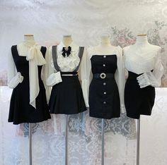 Kpop Fashion Outfits, Ulzzang Fashion, Korean Outfits, Cute Fashion, Girl Fashion, Fashion Dresses, Cute Comfy Outfits, Classy Outfits, Pretty Outfits