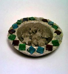 Concrete Bowl Fire Bowl Trinket Holder Bird by DeerwoodCreekGifts, $25.00