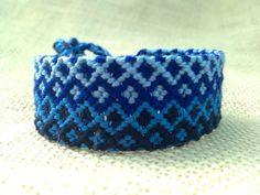 Friendship Bracelet  Diamond Pattern in Gradient of by FriendsnMe, $8.00