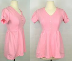 1970s Pink Empire Waist Blouse by KrisVintageClothing on Etsy