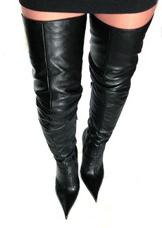 Di Marni black leather thigh high boots 03