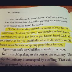 Now THIS encourages me! I pray it encourages you too! Reading Greater, by Steven Furtick. Have an awesome Thursday!
