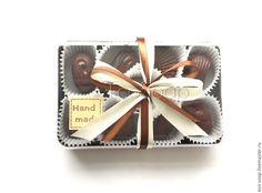 """Купить Набор мыла ручной работы """"Шоколадные конфеты"""". Подарок женщинам. - коричневый, мыло конфеты"""