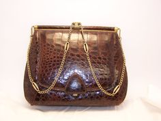 Crocadile Purse by TimeHonoredFinds on Etsy