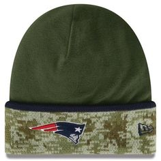 bd84431af Official New England Patriots ProShop - New Era Salute To Service 2014 On  Field Knit Hat