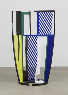 Roy Lichtenstein 'Glass IV' Painted bronze, x x Roy Lichtenstein Pop Art, Art Pop, Wassily Kandinsky, Illustrations, Illustration Art, Modern Art, Contemporary Art, Industrial Paintings, Jasper Johns