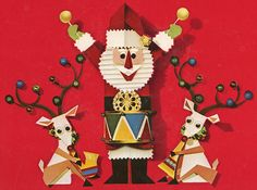 Image from 1966 limited edition Christmas album created for Goodyear by Columbia Records.