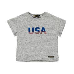"""Finger in the nose Drop """"USA"""" Crop T-Shirt-product"""