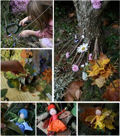 Totally did this kind of thing when I was little.  Fairy houses.