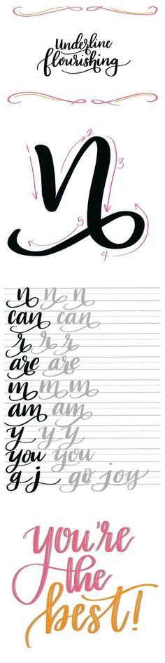 Hand Lettering: Underline Flourishing and Free Practice Sheets #letter_crafts_modern_calligraphy