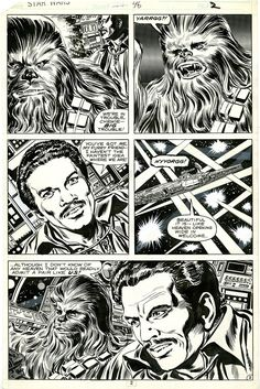 Star Wars #46, page 2. Marvel Comics, 1981. Pencils by Carmine Infantino. Inks by Tom Palmer.