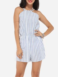 0b0a12b6776 Dacron Striped Rompers Rompers