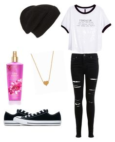 """""""Untitled #49"""" by musiclover1217 ❤ liked on Polyvore featuring H&M, Miss Selfridge, Converse, Phase 3 and Minnie Grace"""