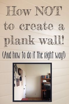 Planning to put up a plank wall? Here are my favorite plank wall tutorials to get you started! Wood Plank Walls, Wood Planks, Planked Walls, Wood Wall, Home Renovation, Home Remodeling, Ship Lap Walls, Diy Home Improvement, Wall Treatments