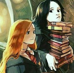 Lily and Severus - what a beautiful image! Personalities só well captured. Love it!