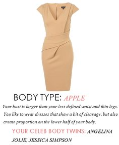Date night dresses for Apple body type  V Neck Ponte Pencil Dress $92.00 from TopShop