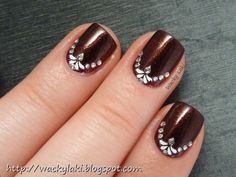 Nail bed art pretty for wedding maybe???