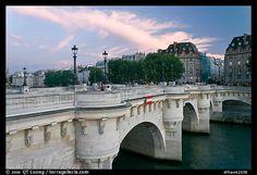 Pont Neuf at sunset. Paris, France