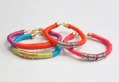 DIY: thread wrapped bracelets