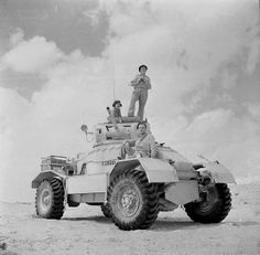 AEC Mk I armoured car equipped with a 2-pdr gun in the Western desert, 20 September 1942.