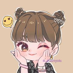 W Two Worlds Wallpaper, Lisa Blackpink Wallpaper, Chibi Wallpaper, Cute Anime Chibi, Cute Anime Pics, Kawaii Anime, Kpop Drawings, Cute Drawings, Cute Sketches